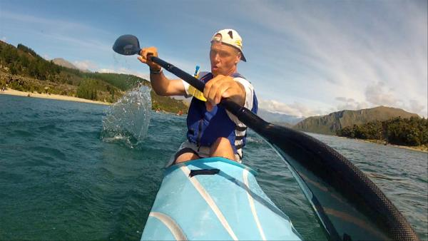 Club President Ian Huntsman on the Clutha River, Wanaka Dec 2011